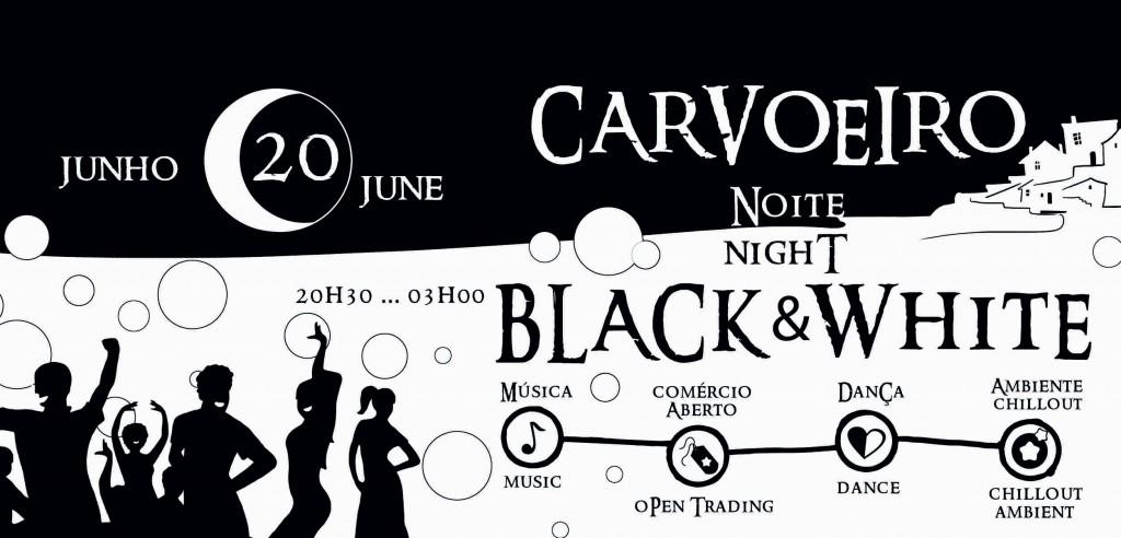 FLYER CARVOEIRO BLACK & WHITE- LADO 1