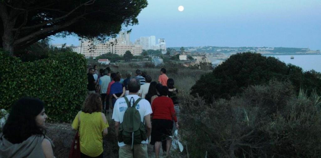 Percurso natural noturno Praia do Alemão_ 3 Castelos, DR