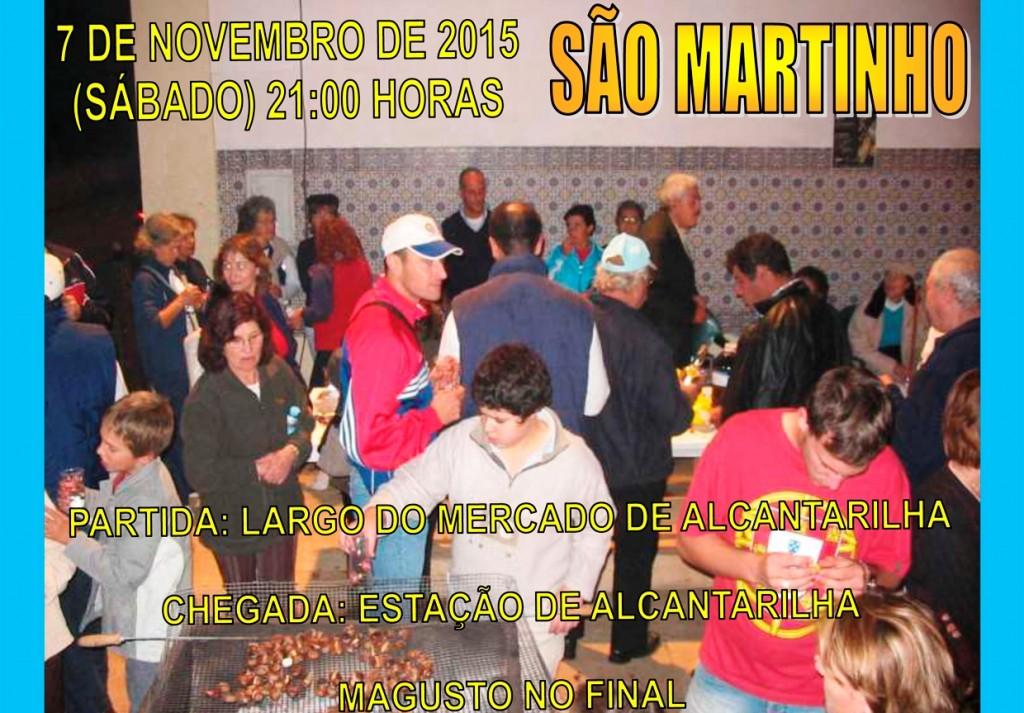 Cartaz XX Passeio Pedestre Noturno - S  Martinho - 2015 A4 150dpi