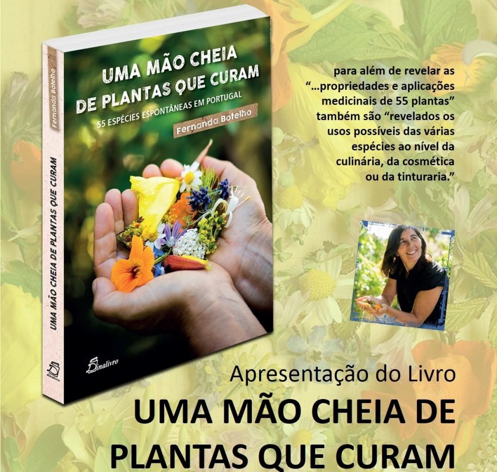 cartaz apresentaçao do livro UMA MÃO CHEIA DE PLANTAS QUE CURAM (nov.2015)