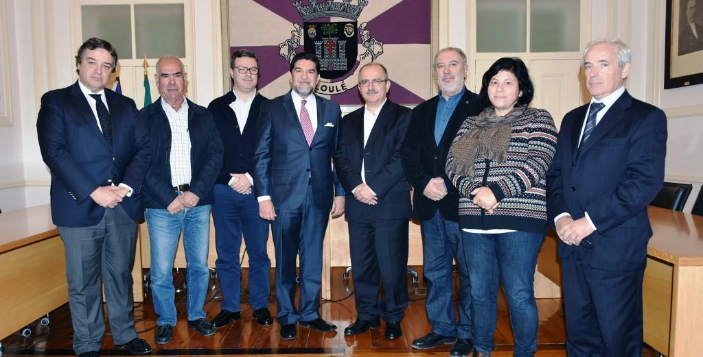 Visita ao Concelho de Loulé do Sr. Embaixador do México em Portugal Alfredo Pérez Bravo - C.M.Loule - Mira