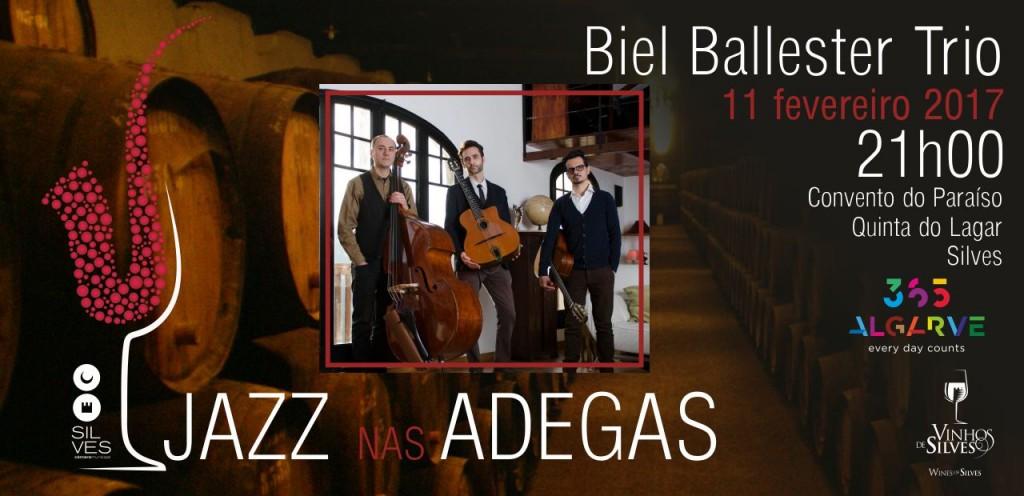 Jazz nas Adegas_Banner Notícia_Biel Ballester Trio